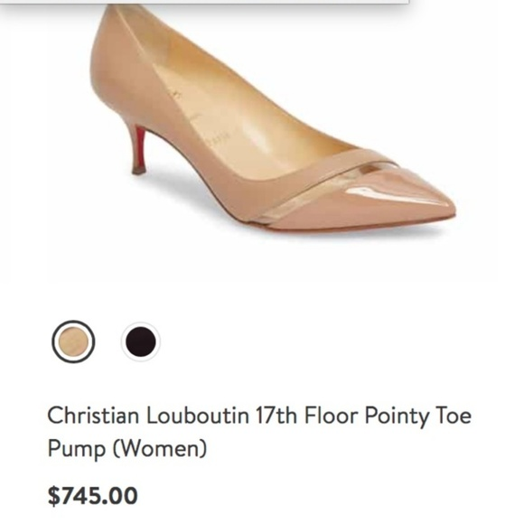 low priced 212c6 5d8b4 CHRISTIAN LOUBOUTIN 17th FLOOR POINTY TOE PUMP